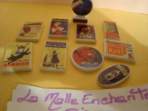 LA SERIE DE FEVES LES PLAQUES EMAILLEES PUBLICITAIRES