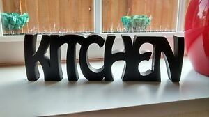 "FREE STANDING WOODEN PLAQUE ""KITCHEN""(X1)"