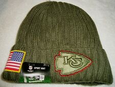 KANSAS CITY CHIEFS 2017 SALUTE TO SERVICE NEW ERA ON FIELD KNIT HAT NEW W/TAGS