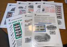 Lot of 8 Transportation History Usps American Commemorative Panels 1983-1999