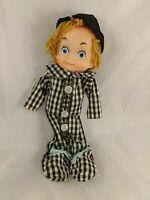 "Vintage Poseable Boy Clown Elf Wired Doll Figure 9"" Japan"