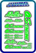 RC AIRCRAFT STICKERS HELI OS ENGINES CAR BUGGY O.S SPEED NITRO PIPE GREEN WHITE