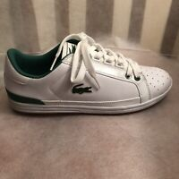 Men's Shoes Lacoste Leather Lace Up Sneakers WHITE