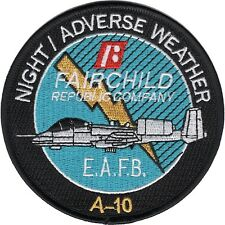 USAF  A-10 Night Adverse Weather  Fairchild Republic Company MILITARY PATCH