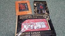 Fullmetal Alchemist- Pen Pouch, Card Case & Wristband/ Button Set- Japan Import
