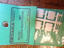 Details West HO #1003 Equipco Reefer Hatches (Plastic) 4 pcs in pkg