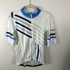 Capo Cycling Jersey Shirt 2XL White Blue Zip