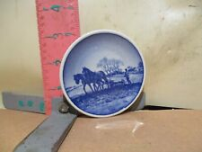 Royal Copenhagen Faience Little Plate - Landmanden , The Farmer - No Damage!