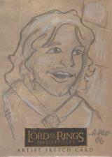 """Lord of the Rings Masterpieces - Amy Pronovost """"Aragorn"""" Sketch Card"""