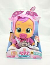 Cry Babies Rhino Sasha Boo-Hoo Baby Doll w/ Pacifier Cries Real Tears Add Water