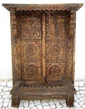 1700 Antique Hand Made Wooden Window Old Putali Flower Carved Wooden Door Window