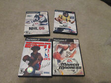 4 Play Station 2 Games ESPN NBA, NCAA March Madness 2002, NHL 06, NCAA 09