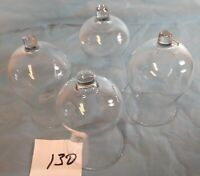 Votive Cups Set of 4 Homco Home Interior Crystal Clear Glass Simple Design