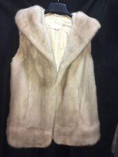 Ivory,Beige,Off White, Mink Fur Vest Coat Jacket Ladies L,XL 12,14,16 FREE SHIP!