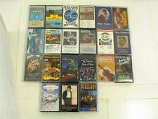 VINTAGE LOT OF 21 ASSORTED CASSETTE TAPES COUNTRY CHRISTMAS BLUE GRASS COMEDY