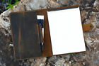 leather portfolio folder document for letter size 8.5 x 11.75 top open pad