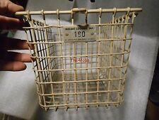 Vintage Medart White Metal Gym Locker Basket Steampunk