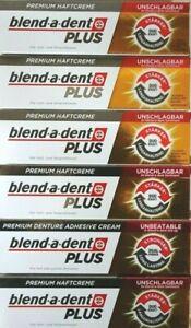 blend-a-dent PLUS Premium Haftcreme Geschmacksneutral Duokraft 6x40g   MHD 11/21