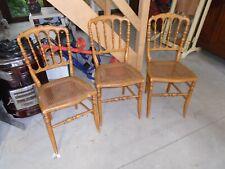 lot de chaises campagnardes, 3 chaises cannées, 3 chaises anciennes campagardes