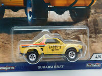 HW604 HOT WHEELS SHOP TRUCKS SUBARU BRAT PICKUP YELLOW SOOBY OFF ROAD