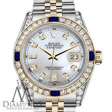 Women's Rolex  31mm Datejust Watch White MOP 8+2 Dial with Sapphire & Diamond