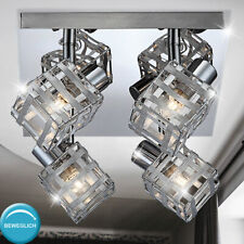 ALU Geflecht Spot Decken Lampe verstellbar Gäste Zimmer Chrom Strahler Leuchte