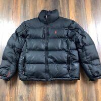 Vintage 90s Polo Ralph Lauren Down Puff Black Zip Ski Jacket RL250 - Size Large
