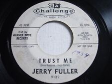 PROMO Jerry Fuller Trust Me / Wake Up Sleeping Beauty 1962 45rpm