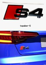 New 2009-2015 Alloy Black & Red Audi S4 Emblem Sticker Badge Decal Fit A4 S4