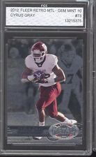 2012 Fleer Retro Metal Universe Cyrus Gray FGS GEM MINT 10 PSA/BGS crossover