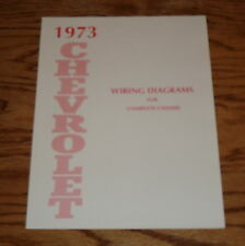 1973 Chevrolet Passenger Car Wiring Diagrams Complete Chassis 73 Chevy