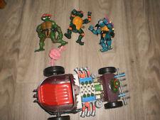 lot personnages krang splash  véhicule TORTUES NINJA vintage TMNT playmates