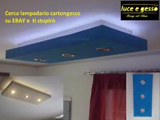 lampadario moderno led a soffitto con faretti in cartongesso personalizzabile