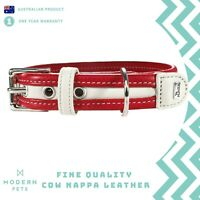 Designer Leather Dog Collar Pet Puppy Hunter Premium Quality Genuine Cowhide