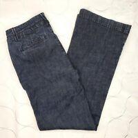 Coldwater Creek Trouser Jeans Size 6 Womens Wide Leg Blue