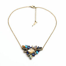Women's Colorful Sapphire Style Sunset on the Seine Crew Statement necklace