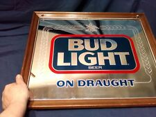 Bud Light Daught Beer Bar Sign Mirror