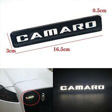 1Pcs JDM Camaro  LED Light Car Front Grille Badge Illuminated Decal Sticker