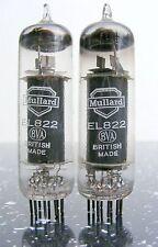 CLOSE MATCHED PAIR MULLARD EL822 CV2382 Valve Tube röhre HiFi amp radio 管放大器