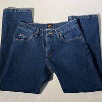 Lee Vintage 90's Jeans Straight High Waist Mom Dark Blue 31 X 29