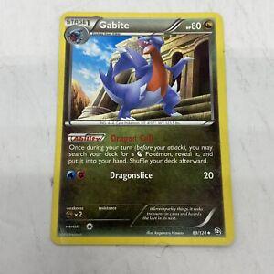 Pokemon Gabite 89/124 Black White Dragons Exalted Dragon Nintendo TCG Uncommon