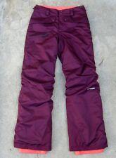 Patagonia h2no Waterproof Ski Snowboard Pants Boy's Sz XL 14 burgundy
