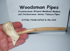 F35 Cutty Frontiersman Hickory Cherry Woodsman Tobacco Pipe Handcrafted in USA