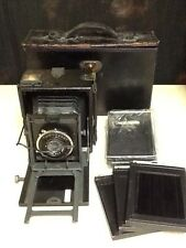 SPEED GRAPHIC Graflex Antique Vintage Folding Camera KODAK F4.5 135mm lens