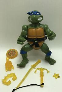 1990 Leonardo With Working Storage Shell Ninja Turtles TMNT Vintage Figure