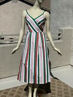 Ted baker Noriie Striped V-neck Sleeveless Midi Dress