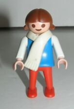 Playmobil Brown Hair Female Child with Scarf 1981 Geobra Toy Building Figure