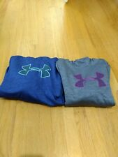 EUC Under Armour Girls Hoodie Sweatshirt Lot XL