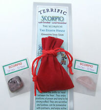 "Scorpio-bookmark-birthstones-red Velvet Pouch - ""Astrology il codice segreto"" LIBRO"