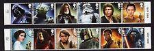 2015 - Star Wars. 2 strips of 6 - VFU. CDS